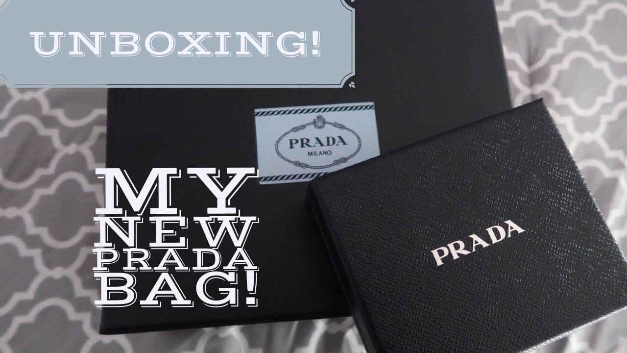 d3e5512cb484 UNBOXING| Prada Diagramme Leather Crossbody Bag & Wallet - YouTube