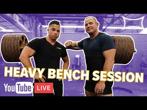 Mark Bell Nick Wright Heavy Bench Session At The Super Training Gym Live