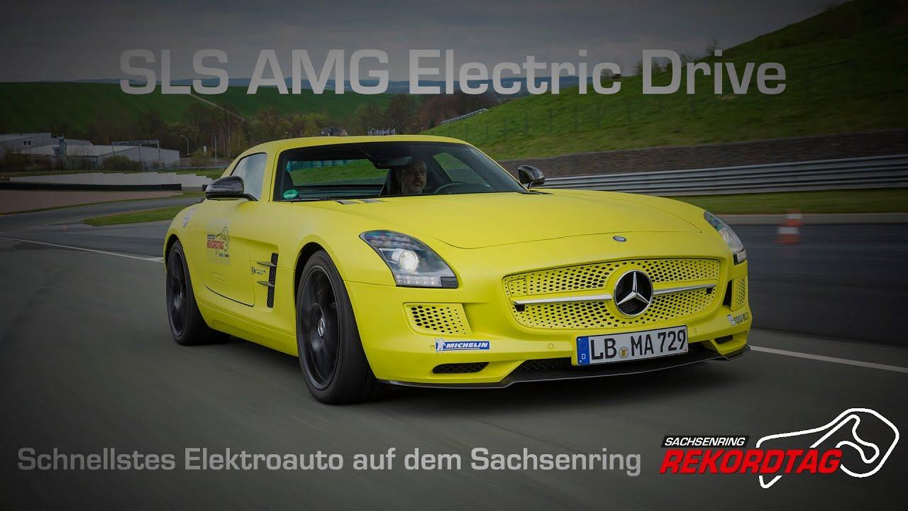 mercedes benz sls amg electric drive onboard rekordfahrt sachsenring auto bild sportscars