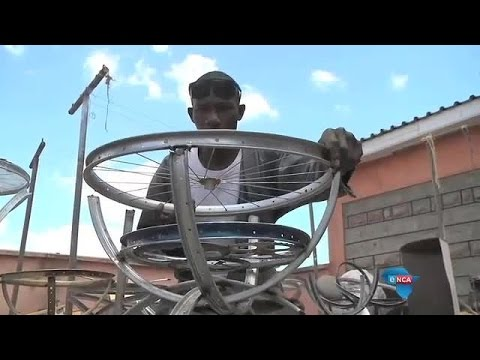 Young entrepreneur recycles bicycles into furniture