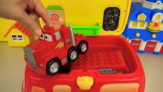 Gambar cover Cars truck and Poli car toys tool station play.