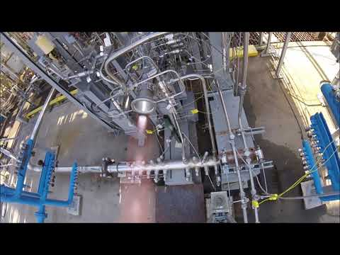 3-D Printed Rocket Engine Nozzle Hot-fire Test