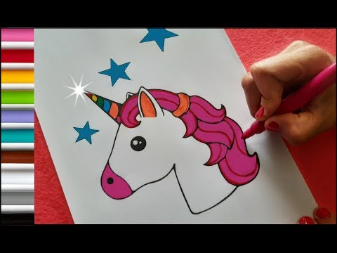 coloring-and-painting-a-unicorn!-⭐️-learn-the-colors!-⭐️-cute-and-funny!