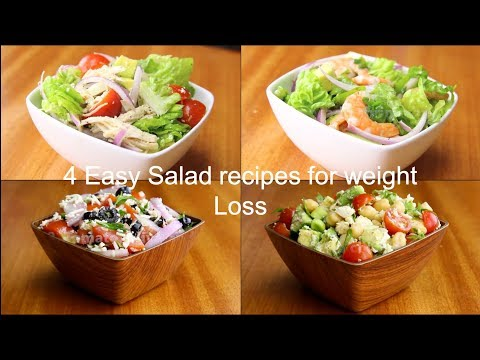 4 Easy Salad Recipes For Weight Loss | Healthy Salad Recipes