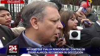 Informe recomienda remoción de contralor Edgar Alarcón