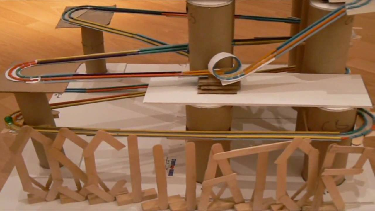 The Oscillator A Marble Roller Coaster Youtube