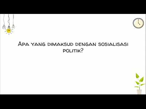 Apa yang dimaksud dengan sosialisasi politik? - YouTube