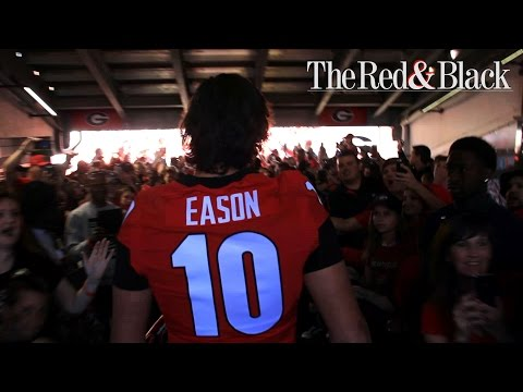 Jacob Eason at the G-Day Dawg Walk