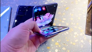 First closeups of the S20, Z-Flip, S20 Plus, and S20 Ultra (hands-on)