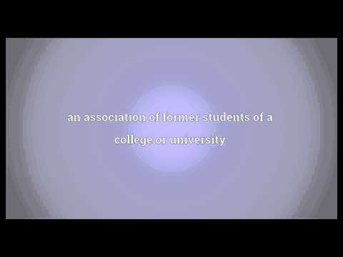 Alumni association Meaning