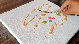 Very Easy / Flower Bouquet / Abstract Painting Demonstration / Satisfying/Project 365 days/Day #0355