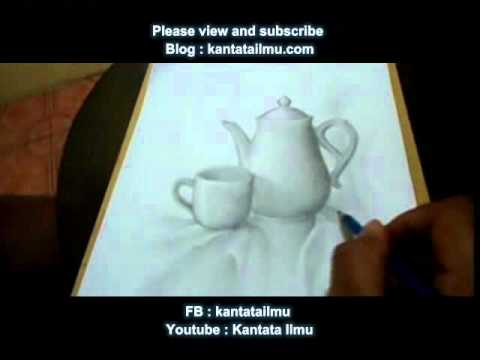 Cara Menggambar Benda Menggunakan Pensil How To Draw Still Life Using Pencil Youtube