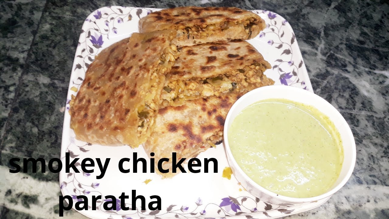 Smokey chicken paratha/ easy tasty paratha recipe by yummy Delicious food