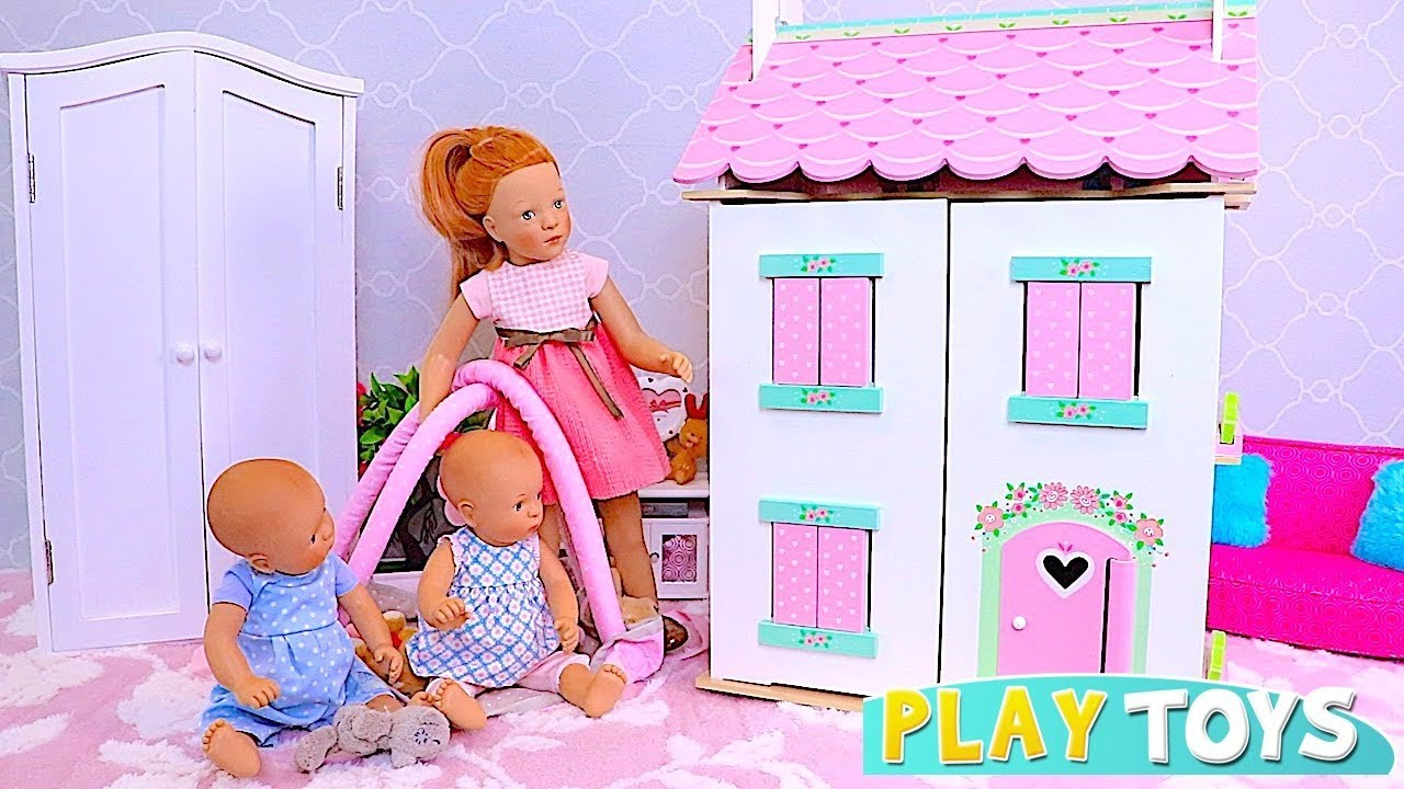 Baby Doll Petitcollin House With Doll Furniture Toys Play