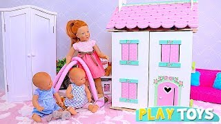 Play Baby Doll Petitcollin House with Doll Furniture Toys! 🎀