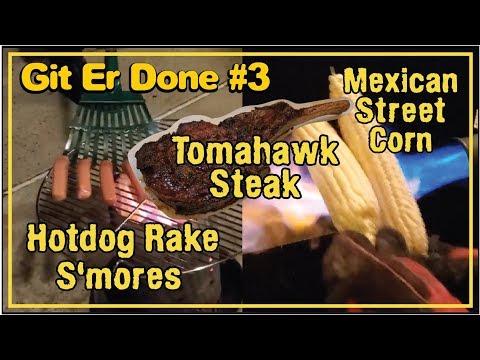 Git Er Done #3 Tomahawk Smores Chimney Grill Gun by BBQ Champion Harry Soo SlapYoDaddyBBQ.com how to