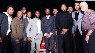 Dwyane wade last dance dinner nba all star Charlotte featuring pat riley,magic,cp3 and Carmelo