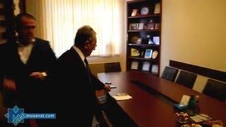 İlham Rəhimov Yeni Müsavatın redaksiyasında. Reportaj