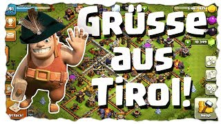 GRÜSSE AUS TIROL - CLANKRIEG 50 vs.50 | Clash of Clans Deutsch | Let´s Play COC