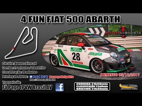 4FUN Fiat 500 Abarth – AMS – Autódromo de Buenos Aires n8 – ARG