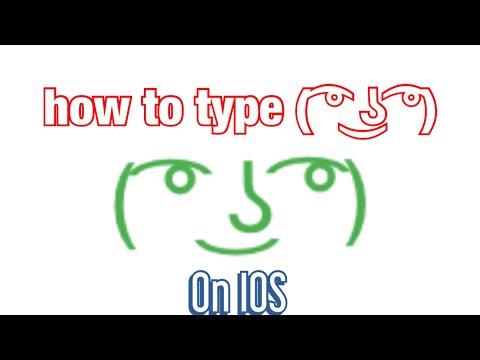 How To Make The Lenny Face ( ͡° ͜ʖ ͡°) On IPhone / IPad / IOS Devices