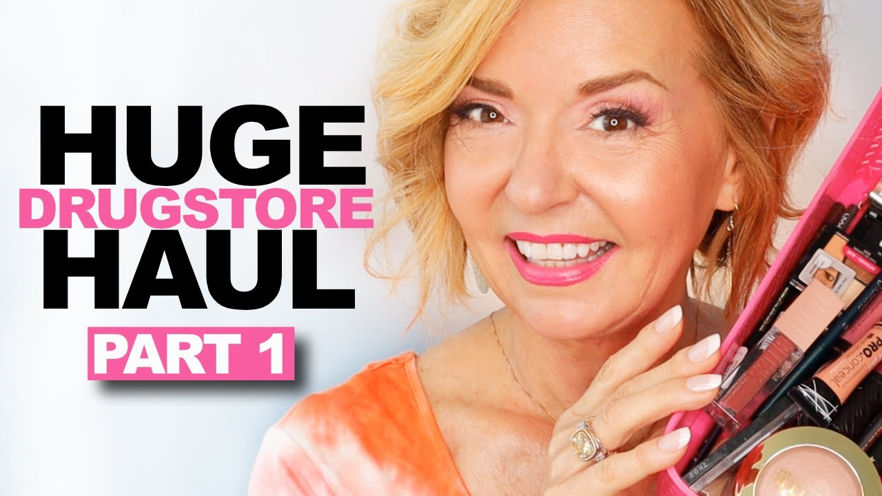 HUGE Drugstore Makeup Haul - Over 50 Mature Skin