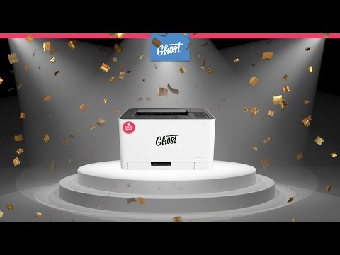 The most compact White Toner printer in the World: Mini Ghost!