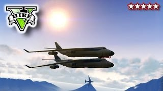 GTA 5 CARGO PLANE STUNTS!!! - GTA, Blimps & Cargo Plane!!! - Crazy Flying Grand Theft Auto 5