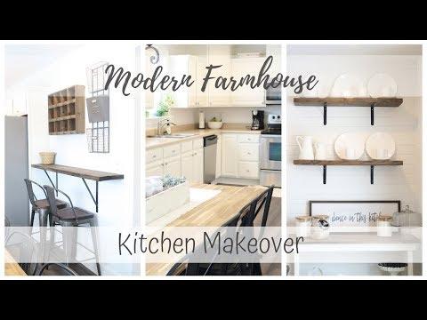 Fixer Upper European Farmhouse Kitchen Design Hgtv Youtube
