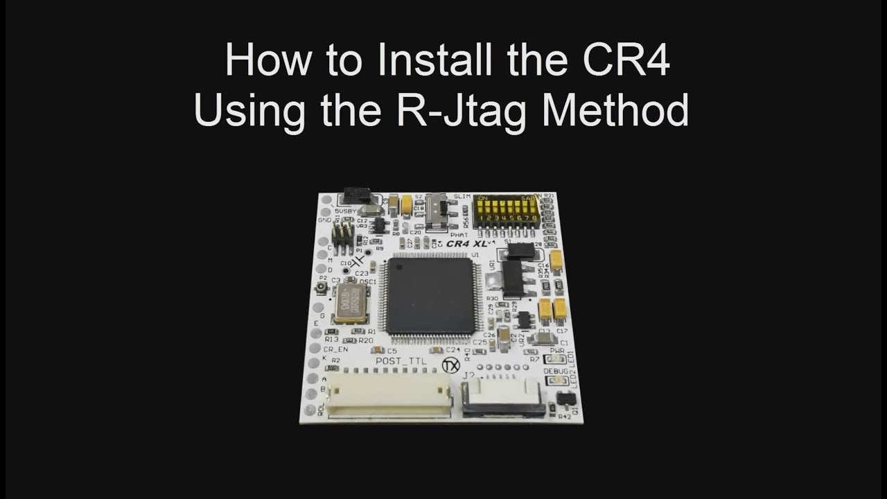 How to Install the CR4 into ANY Phat Xbox 360 (R-Jtag) Xbox Jtag Fuse on
