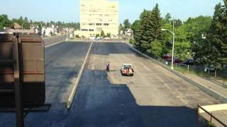 Sealing A Parking Lot - Time Lapsed