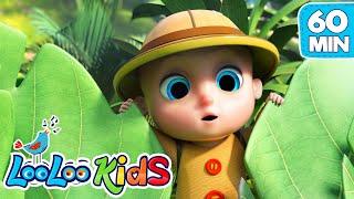 Down In The Jungle, Peek a Boo, Zigaloo + More Nursery Rhymes | LooLoo KIDS