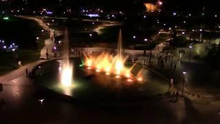 Грузия  Первый вечер в Тбилиси  Изумительные фонтаны