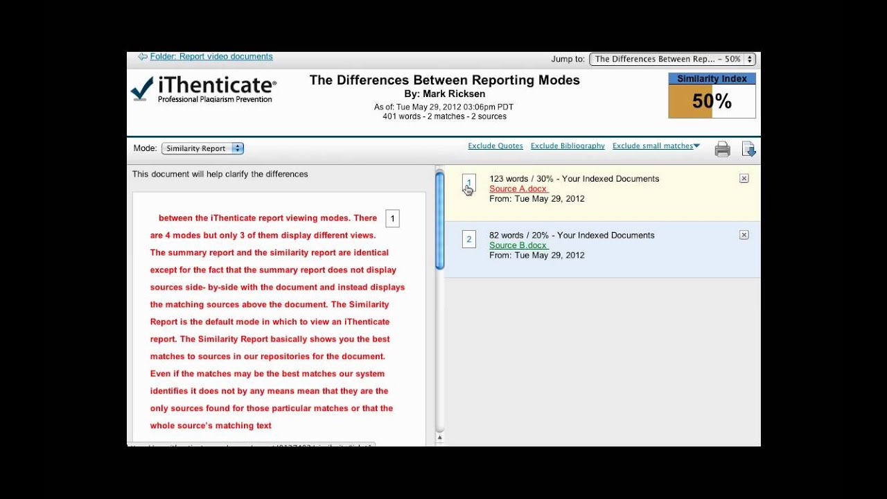 iThenticate: How to Interpret Results - Online Plagiarism Software