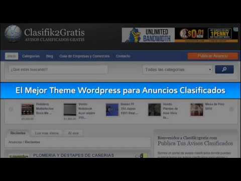 Los Mejores Temas Wordpress para Anuncios Clasificados - YouTube
