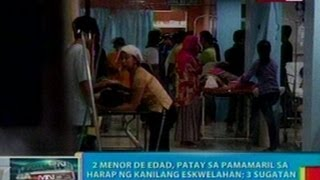 BP: 2 menor de edad sa Cotabato City at 2 lalaki sa Pangasinan at Cebu, patay sa pamamaril