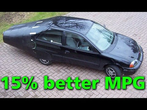 Testing An Aerodynamic Boat Tail - 15% Better MPG - Geo Metro