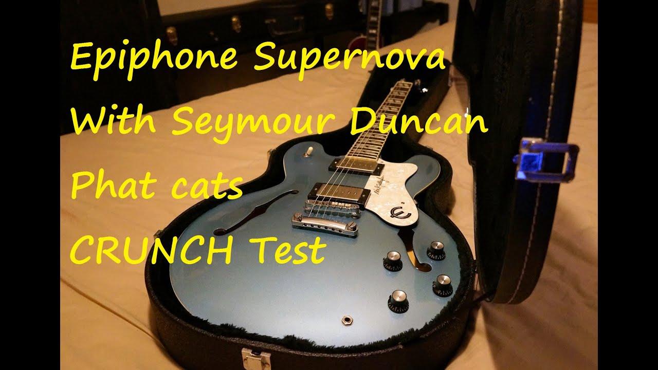 1997 epiphone supernova noel gallagher with seymour duncan phat cat set p90 crunch youtube. Black Bedroom Furniture Sets. Home Design Ideas