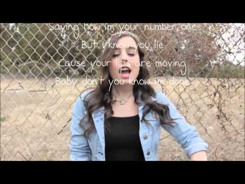 Lips are Moving by Meghan Trainor, (cover by CIMORELLI) lyrics on screen