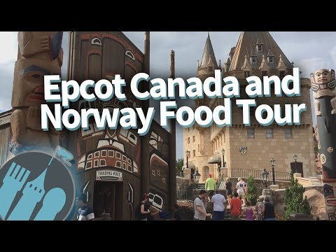 Disney World Food Tour: EVERY Food Spot in Epcot's Canada and Norway Pavilions!