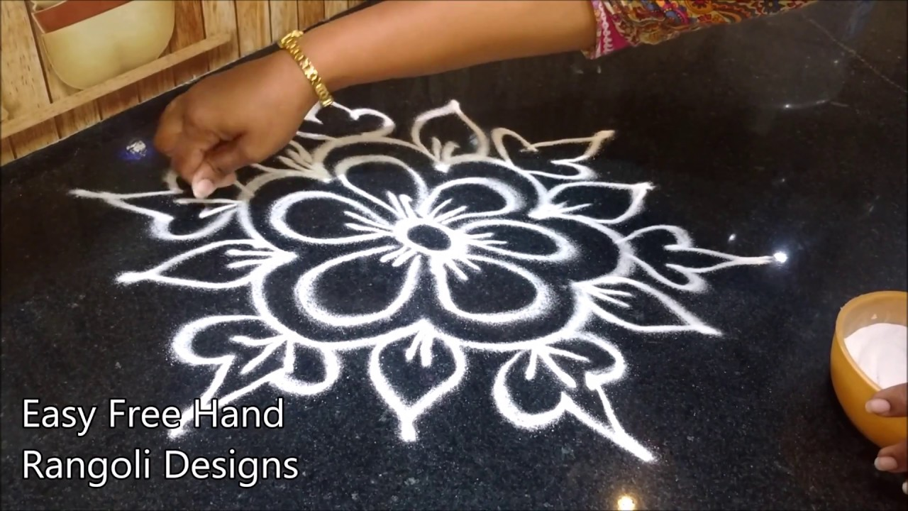 Simple Rangoli Designs For Home With