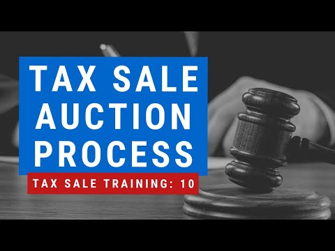 """Tax Sale Investing """"The Auction Process"""" Tutorial Training Tax Liens Deeds Foreclosures"""