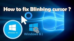 Cursor loading blinking circle fix (Windows 10/Windows 8) for all PCs and Laptops
