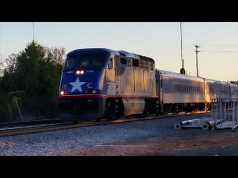 [RNCX]1797 EMD F59PHI Leads AMTK76 With SCREAMING K5LA Departing Station With[RNCX]1755 F59PHI REAR