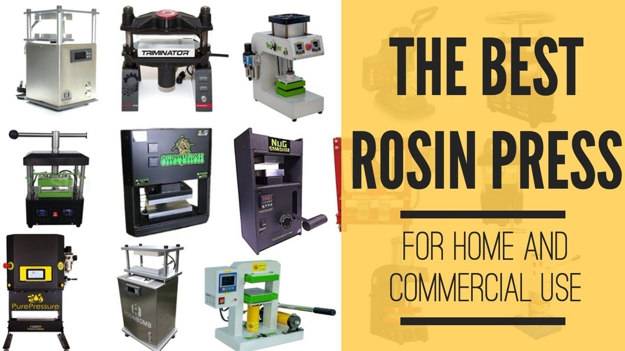 Cannabis Rosin Press - Top Home and Commercial Rosin Presses (In-Depth  Buying Guide)