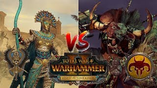 Tomb Kings vs Beastmen   Rise of the Tomb Kings Multiplayer Preview - Total War Warhammer 2