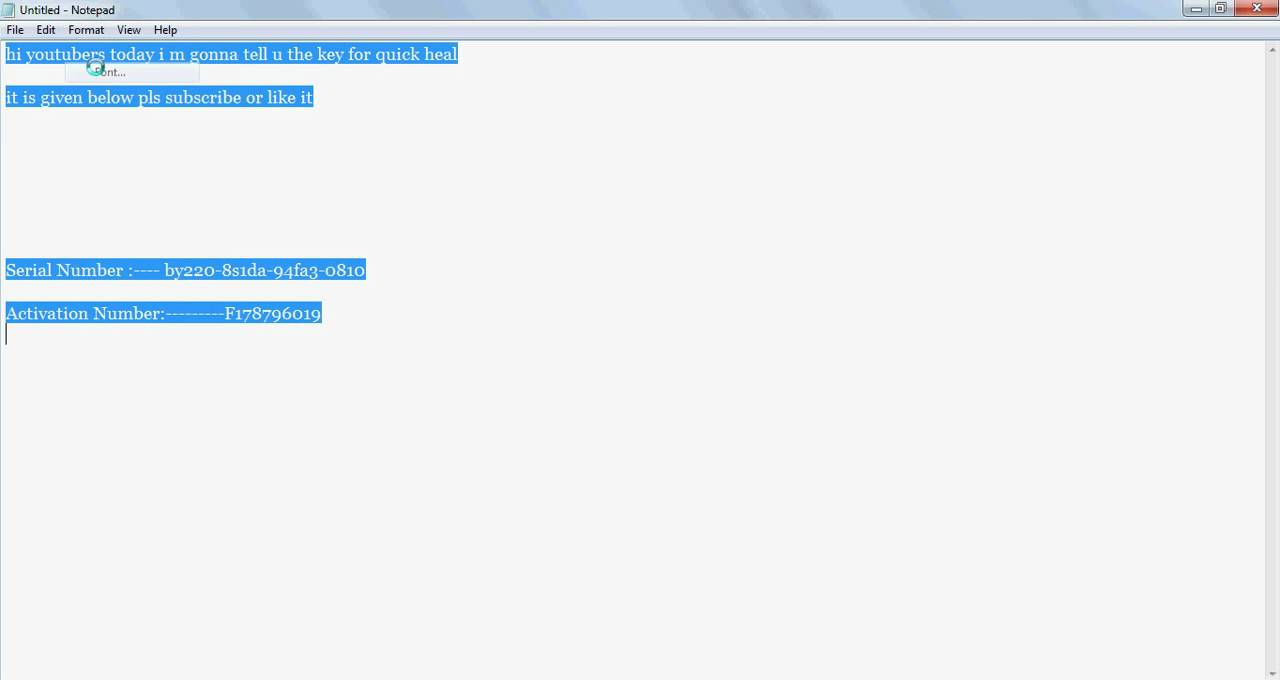 quick heal antivirus pro 2013 valid license keys free download