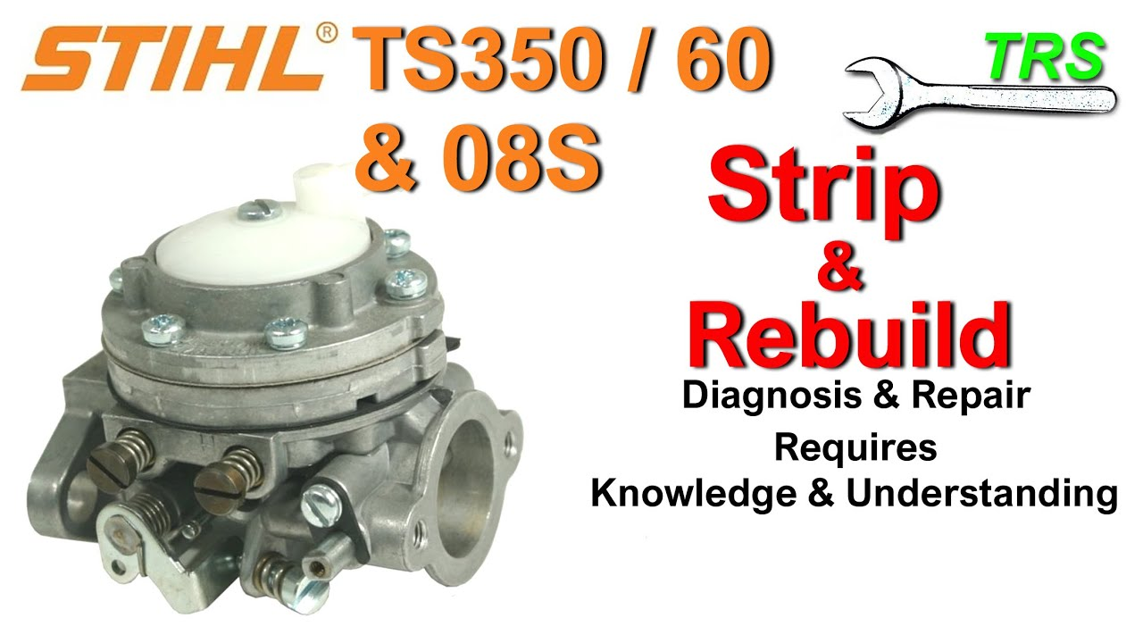 Stihl Ts360 Avs Parts Diagram Great Installation Of Wiring Likewise Chainsaw Moreover On Carburetor Clean Service Ts350 08s Part 1 3 Youtube Rh Com List