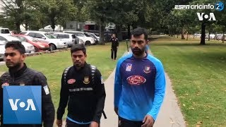 Footage of Bangladesh cricketers walking to safety after New Zealand mosque shooting