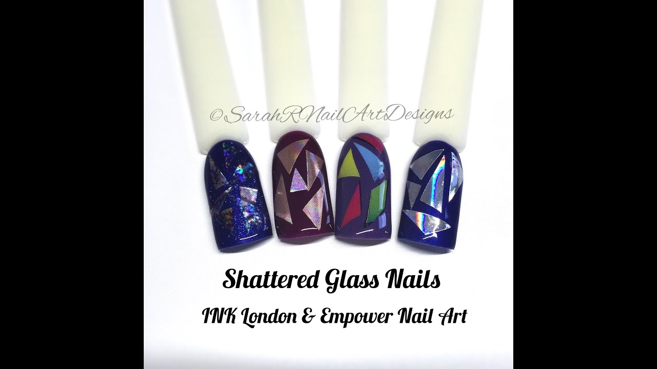 Shattered glass nail art tutorial empower nail art gel polish shattered glass nail art tutorial empower nail art gel polish youtube prinsesfo Images